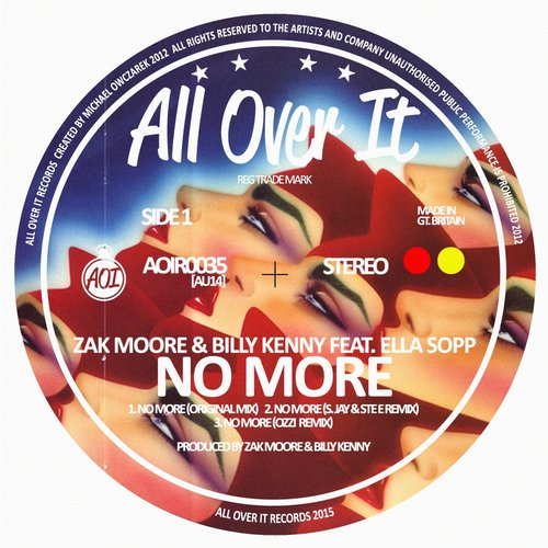 Billy Kenny, Zak Moore, Ella Sopp - No More (s. Jay, Ste E Remix) on Revolution Radio
