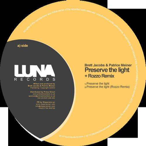 Brett Jacobs, Patrice Meiner - Preserve The Light (original Mix) on Revolution Radio