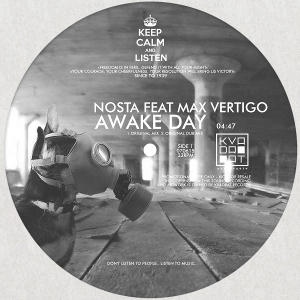 Nosta Feat. Max Vertigo - Awake Day (original Mix) on Revolution Radio